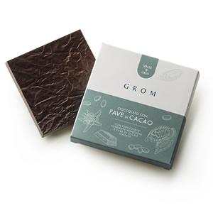 tavoletta cioccolato con fave di cacao