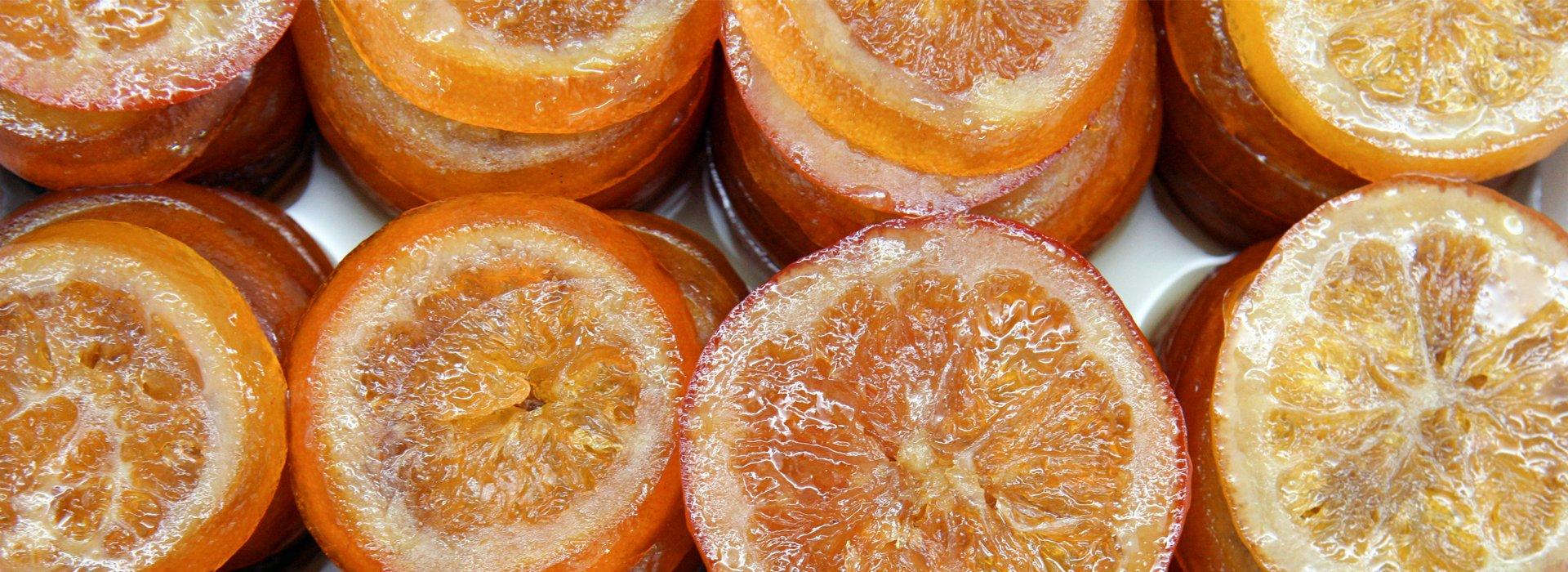 Immagine delle arance candite