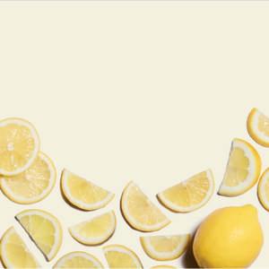 Homemade lemon popsicle