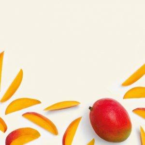 Homemade mango popsicle