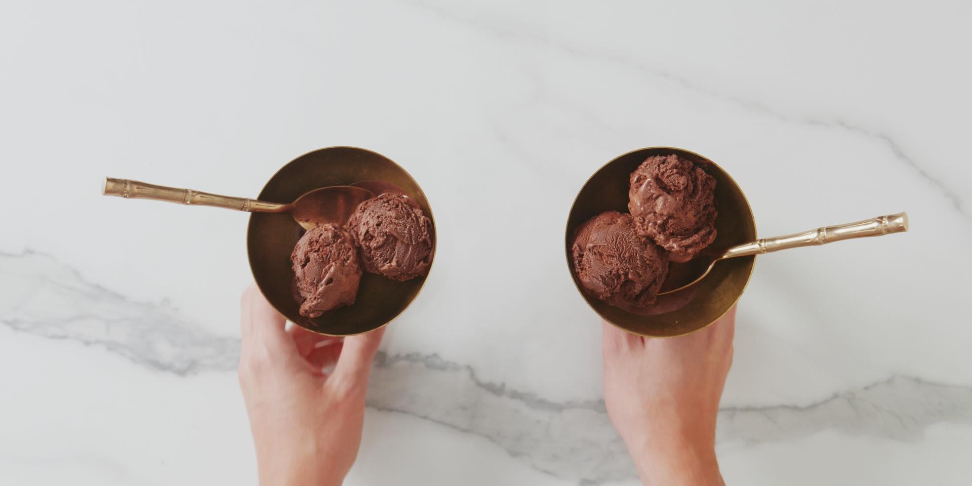 Il gelato al cioccolato di Grom fatto in casa